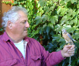 John and Teo, a Merlin who is also part of the BTBW education program.