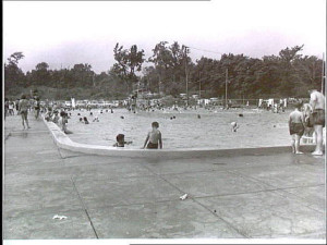 Back then: the park's distinctive saltwater swimming pool.