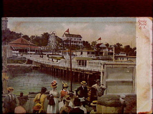 Rocky Point in an 1800's postcard.