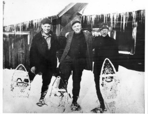 There are no elaborate skills to learning to snowshoe. However, practice will increase the likelihood of keeping away from the guy on the right in this picture.  And doesn't that make learning worth while?